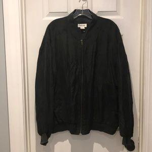 Bogari 100% silk bomber vintage jacket NWOT